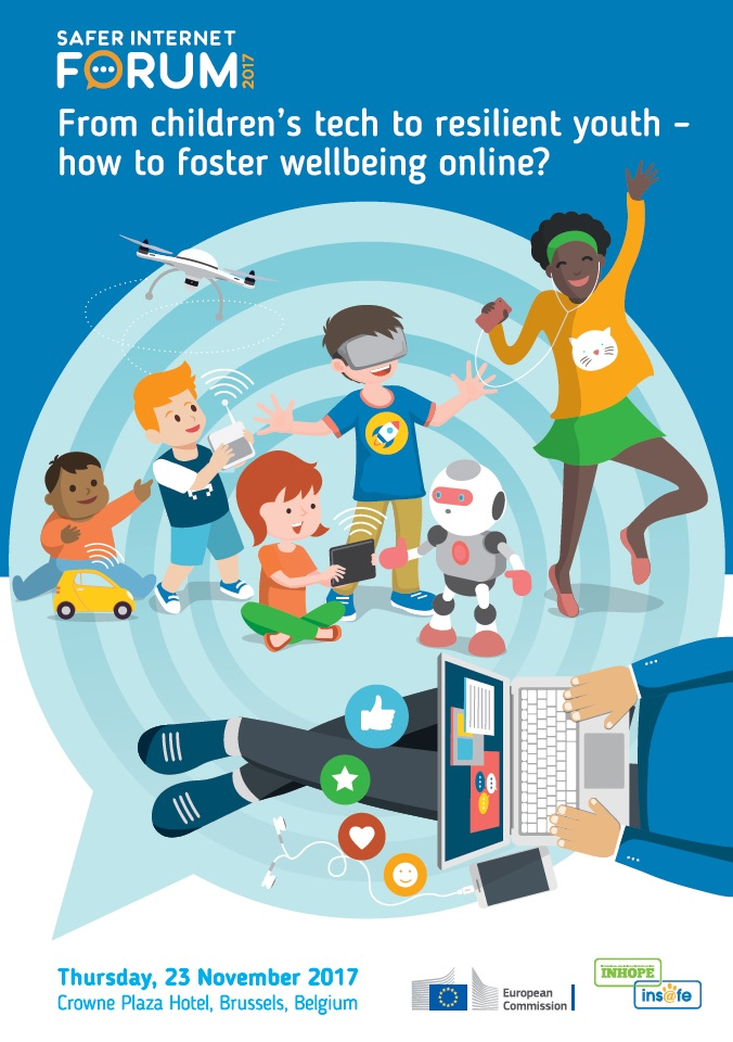 Safer Internet Forum 2017 - brochure cover image