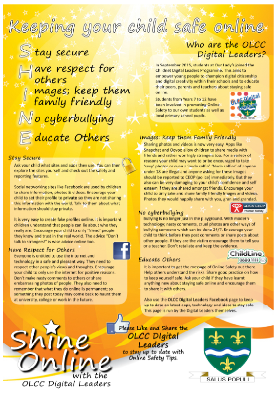 Digital Leader flyer for parents