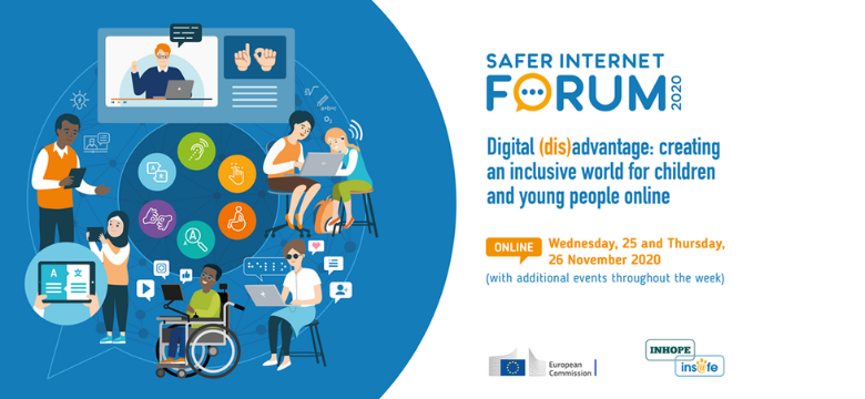 Banner for Safer Internet Forum 2020