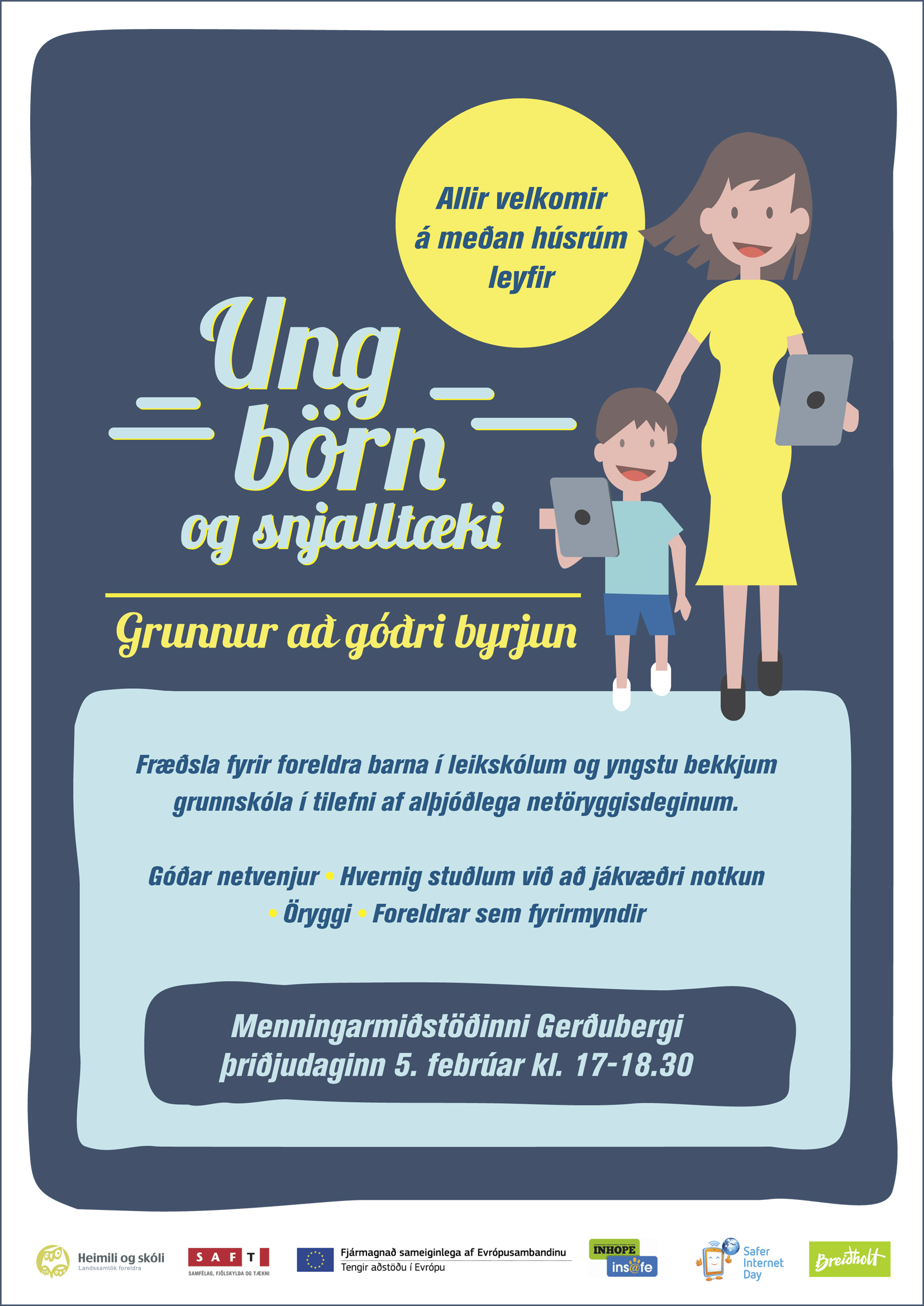 Picture of educational poster designed by the Icelandic Safer Internet Centre