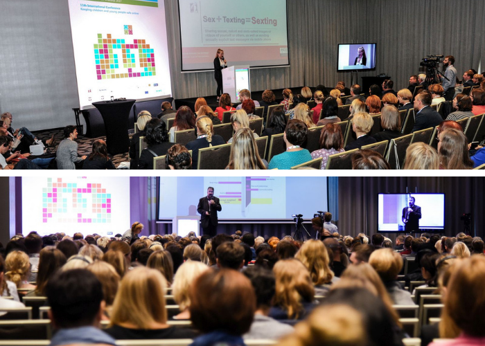 "Pictures of the 2018 international conference ""Keeping children and young people safe online"""