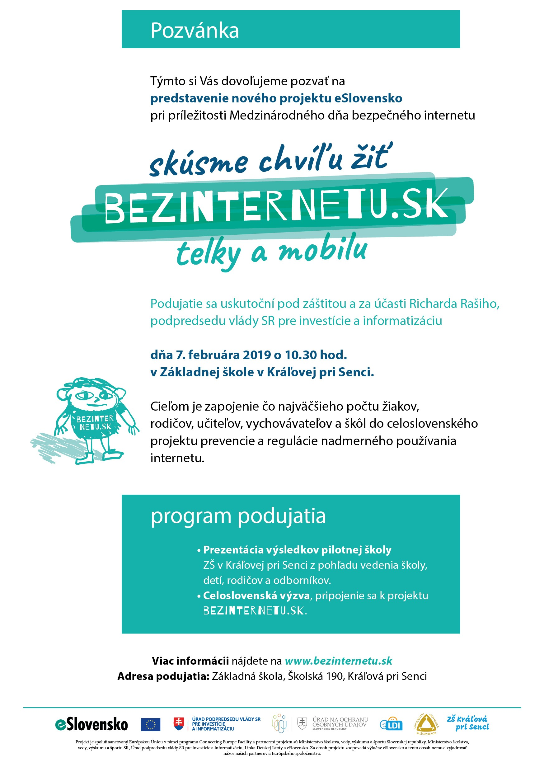 "Picture of Slovakia SIC's ""Month without internet"" campaign for Safer Internet Day 2019"