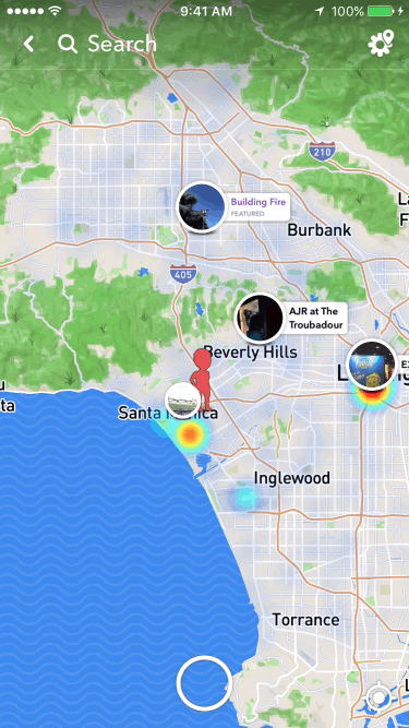 screenshot of snap map