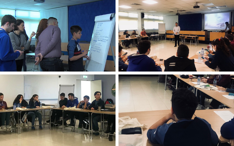 Pictures of the training workshop for CYberSafety Υouth Panel Cyprus