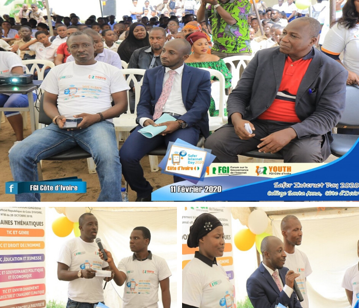 Pictures of the Safer Internet Day celebrations in Côte d'Ivoire