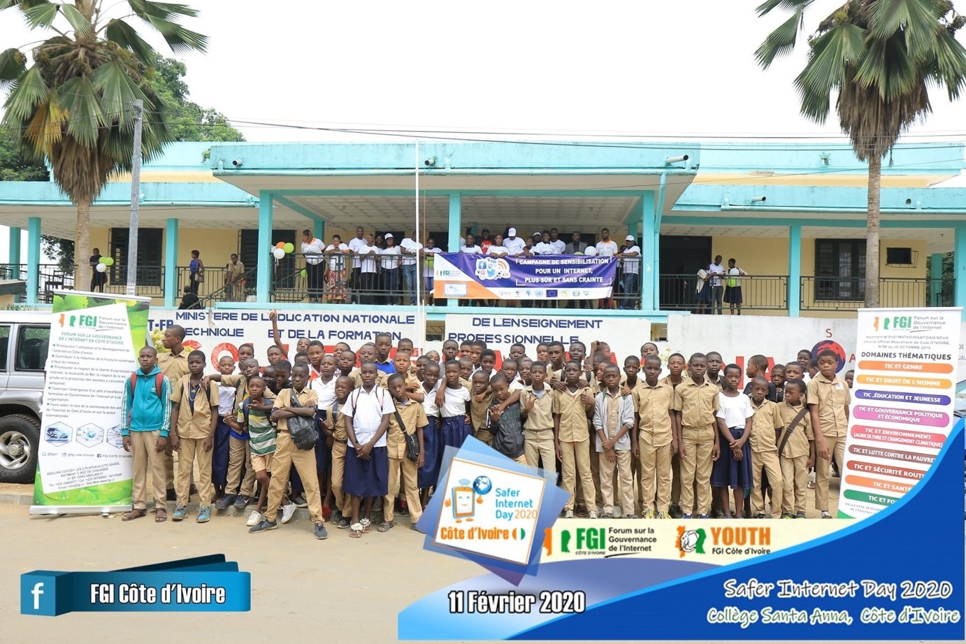 Picture of the Safer Internet Day celebrations in Côte d'Ivoire