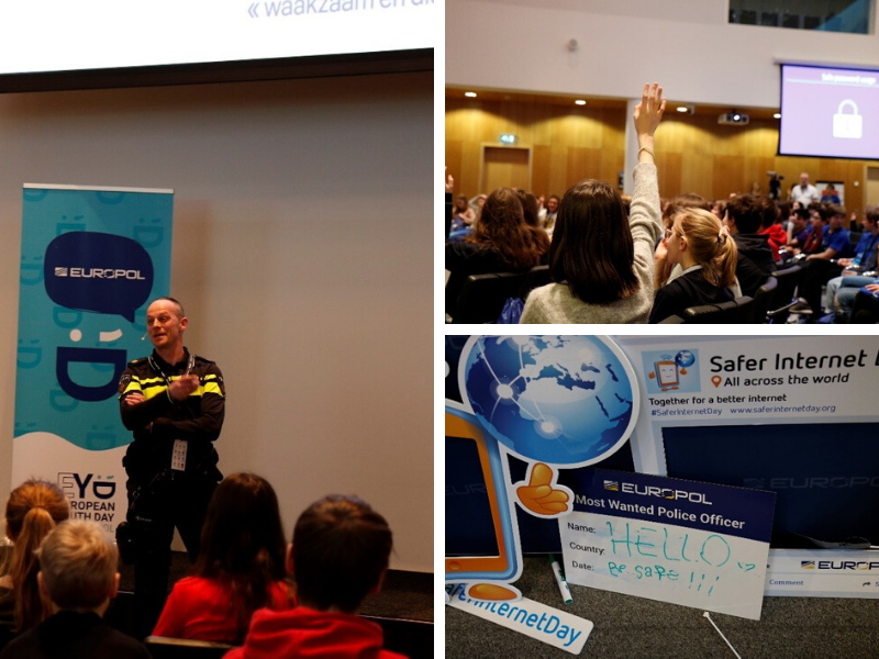 Pictures of Safer Internet Day celebrations at Europol