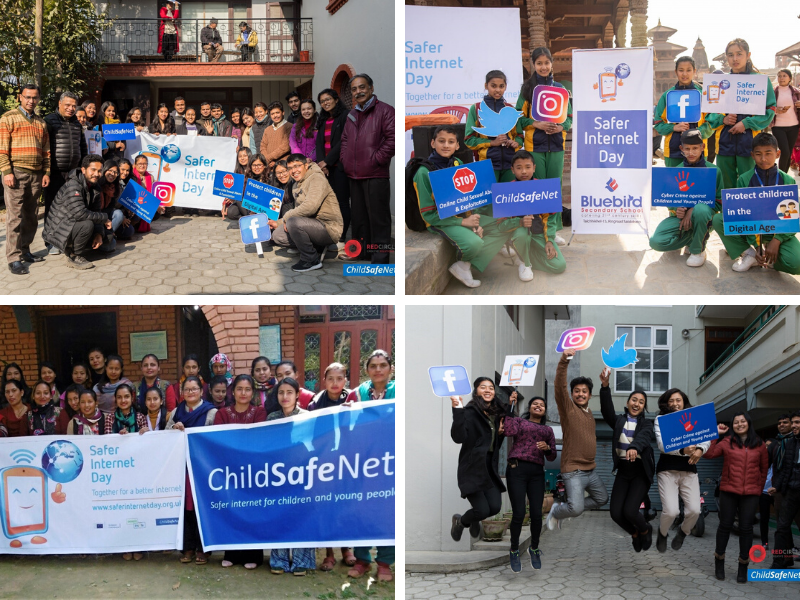 Pictures of Safer Internet Day celebrations in Nepal