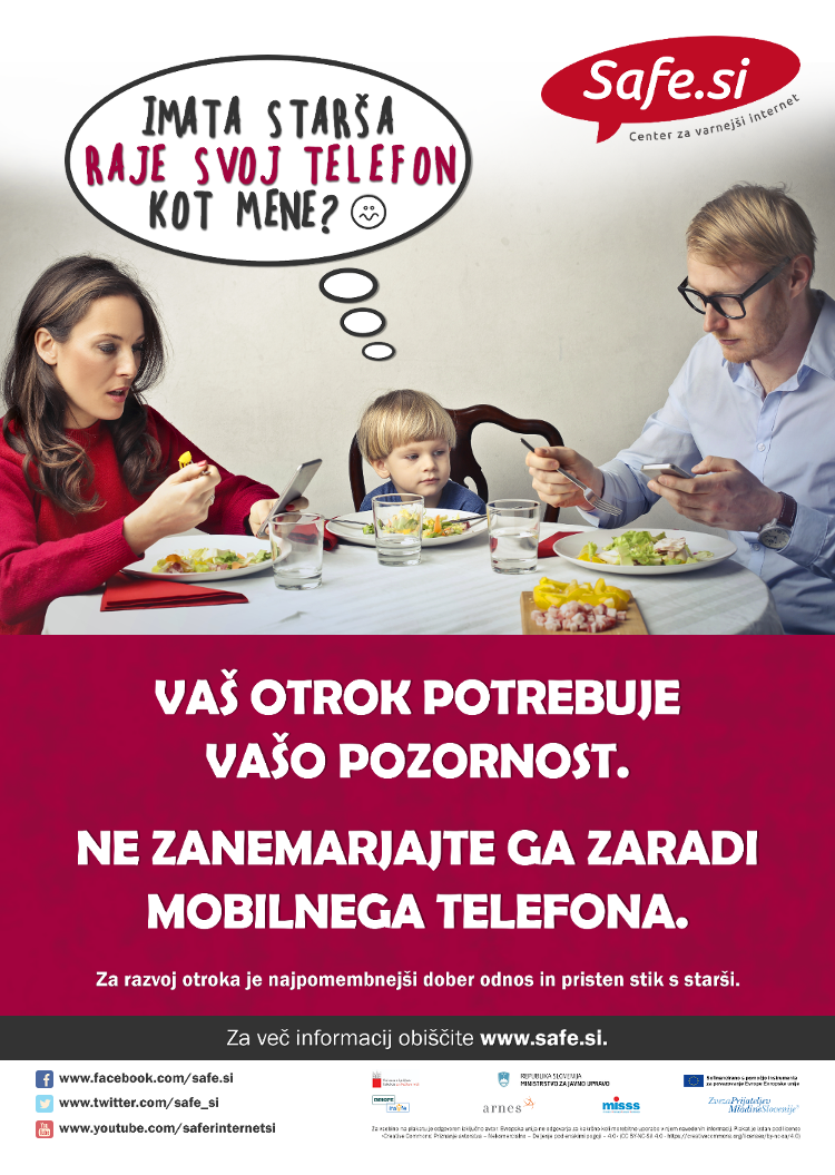 Poster by the Slovenian Safer Internet Centre for Safer Internet Day 2020