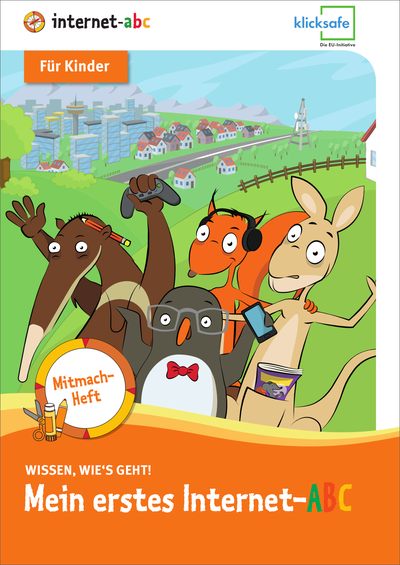"""Front cover of the join-in booklet for children """"My first Internet ABC"""""""