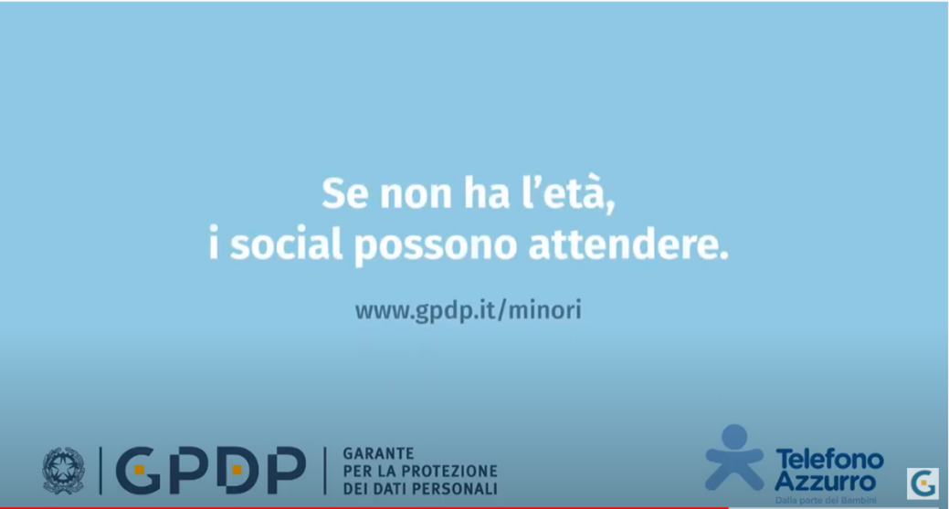 New Italian awareness-raising campaign: 'If you are not of age, social networks can wait'