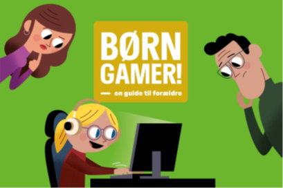 "Front cover of the new parental guide ""CHILDREN ARE GAMING!"""