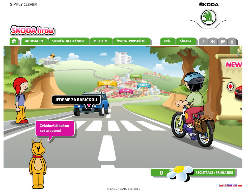Screenshot of Skoda hrou
